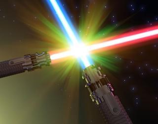 Kampf mit dem Laserschwert