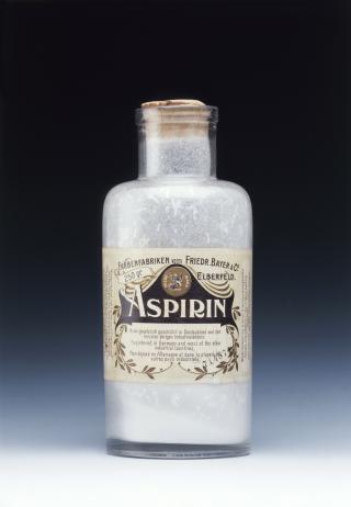 Aspirin-Flasche aus der Zeit um 1900