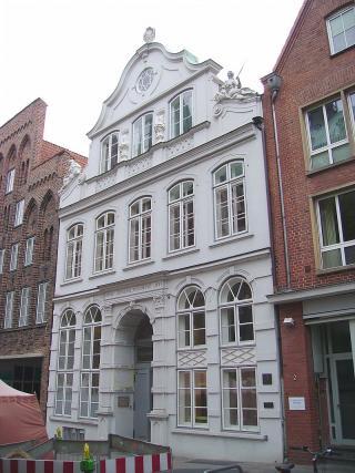 Buddenbrookhaus, Fassade in der Mengstraße