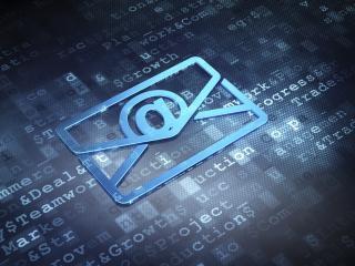 Tastatur mit Emailsymbol