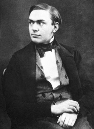 Alfred Nobel in jungen Jahren