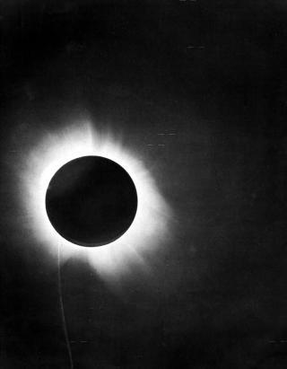 Fotografie der Sonnenfinsternis vom 29. Mai 1919