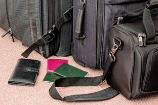 Reisegepäck und Reisedokumente