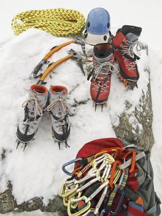 Ausrüstung für Eisklettern