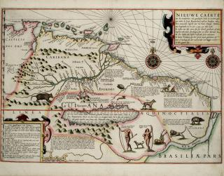Jodocus Hondius' Karte Südamerikas, 1599