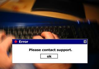 Dialogbox mit Windows-Fehlermeldung