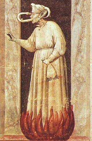 Ausschnitt aus den Giotto-Fresken in der Scrovegni-Kapelle zu Padua