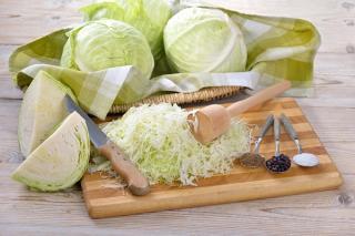 Weißkraut und Sauerkraut