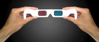 Rot-Cyan-Anaglyphenbrille