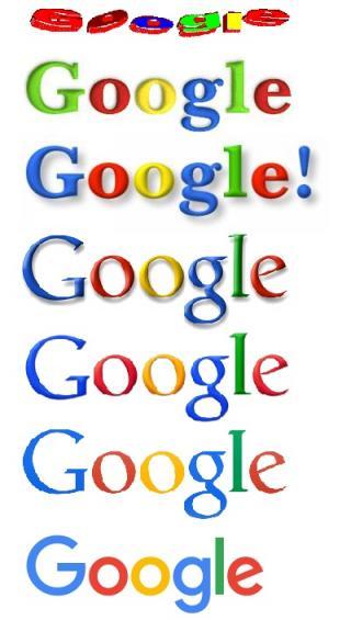 Google Logos von 1998 bis heute