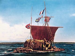 "Heyerdahls Floß ""Kon-Tiki"", 1947"