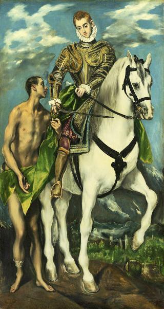 St Martin und der Bettler von El Geco