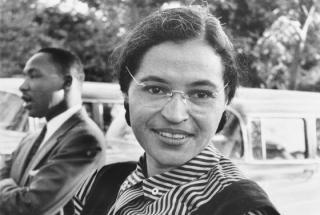 Rosa Parks mit King (1955)