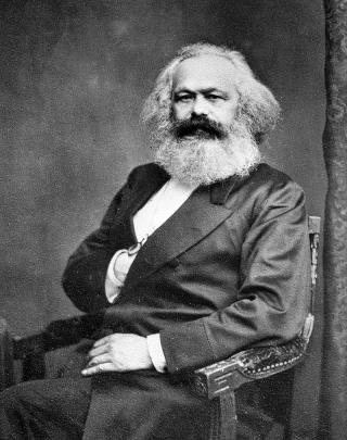 Karl Marx, Fotografie von John Mayall (1875)