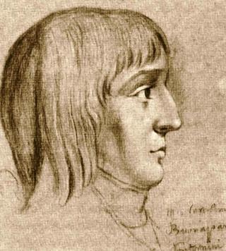 Napoleon im Alter von 16 Jahren, Kreidezeichnung eines unbekannten Zeichners, 1785