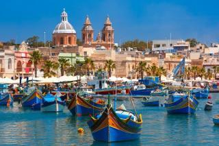 Hafenansicht des maltesischen Hafenstädtchens Marsaxlokk