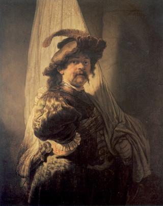Sogenannter Fahnenträger, Rembrandt (1636)