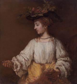 Hendrickje Stoffels als Flora, Rembrandt (um 1654)