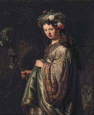Saskia als Flora, Rembrandt (1634)