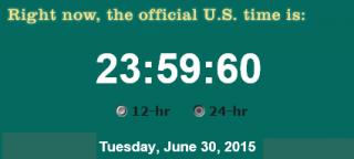 Screenshot während der Schaltsekunde am 30. Juni 2015
