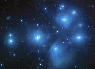 Siebengestirn im Sternbild Stier