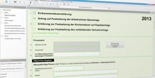 Computer-Bildschirm mit geöffnetem Steuerformular