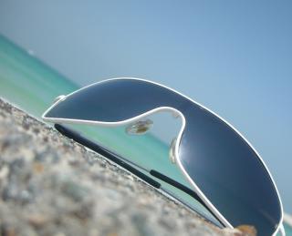 Sonnenbrille in Nahansicht