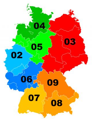 Ortsvorwahlen in Deutschland