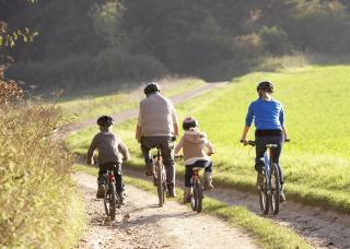Familiäre Radtour