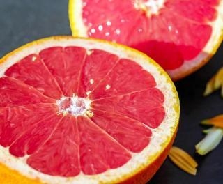 Augeschnittene Grapefruit