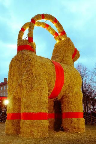 Julbock im schwedischen Gävle