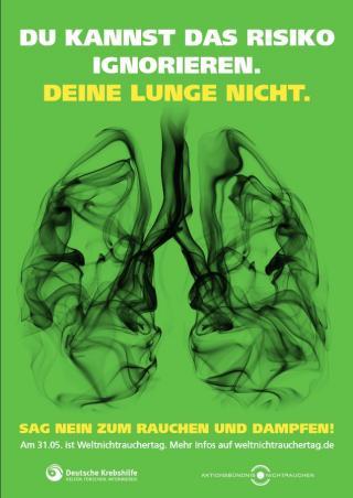 Deutsches Plakat zum Weltnichtrauchertag 2019