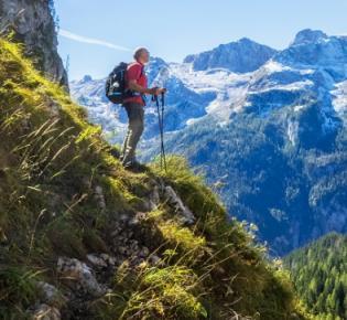 Bergwanderer im Nationalpark Berchtesgaden