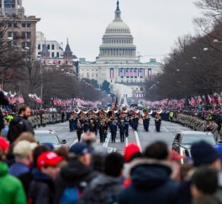 Inaugural parade auf der Pennsylvania Avenue, 2017