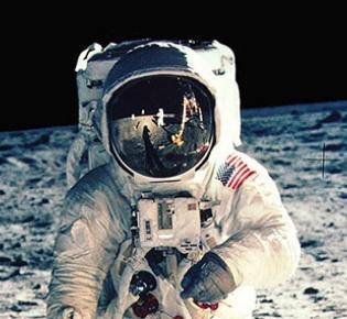 Apollo 11-Astronaut Buzz Aldrin auf dem Mond
