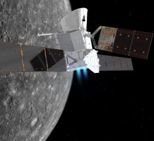 Raumsonde BepiColombo in Merkurnähe