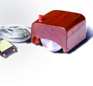 Nachbau des Prototyps der ersten Computermaus von 1968