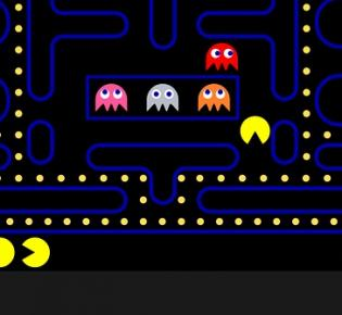 Pacman auf Retro-Games-Console