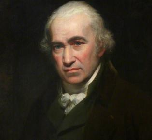 Porträt von James Watt, um 1802, von Sir William Beechey