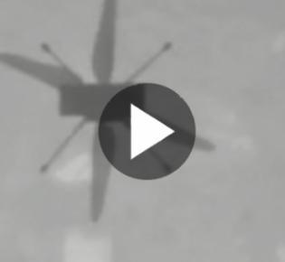 Marshelikopter Ingenuity filmt seinen Schatten