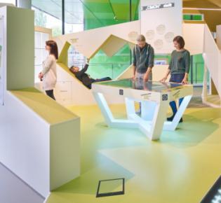 Blick ins Forum des experimenta Science Centers