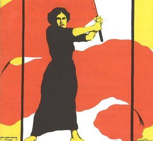 Plakat der Frauenbewegung zum Frauentag 8. März 1914