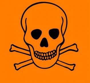 Gefahrensymbol: Sehr giftig (T+)