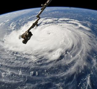 Luftaufnahme des Hurrikans