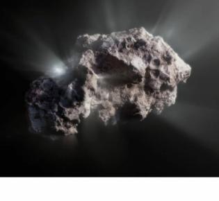 Visualisierung des interstellaren Kometen 2l/Borisov
