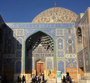 Kuppel der Scheich-Lotfollāh-Moschee in Isfahan