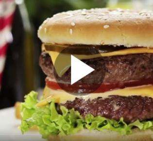Fast-Food-Menü mit Burger
