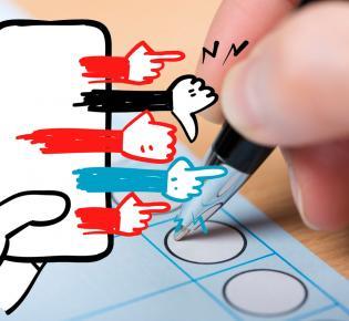 Symbolbild Wahlbeeinflussung