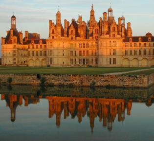 Schloss Chambord in der Abendsonne