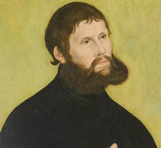 Martin Luther als Junker Jörg, Gemälde Lucas Cranach des Älteren (1522)